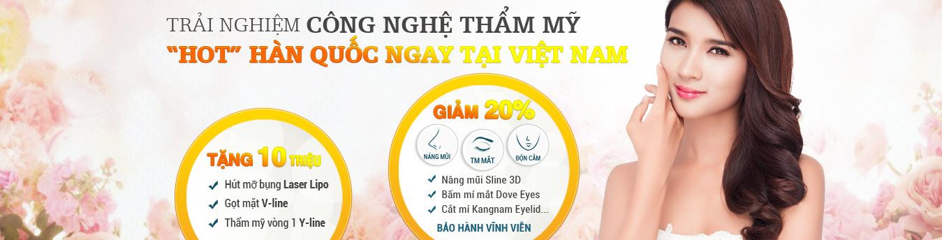 """TRẢI NGHIỆM CÔNG NGHỆ THẨM MỸ """"HOT"""" HÀN QUỐC – ƯU ĐÃI 20%"""