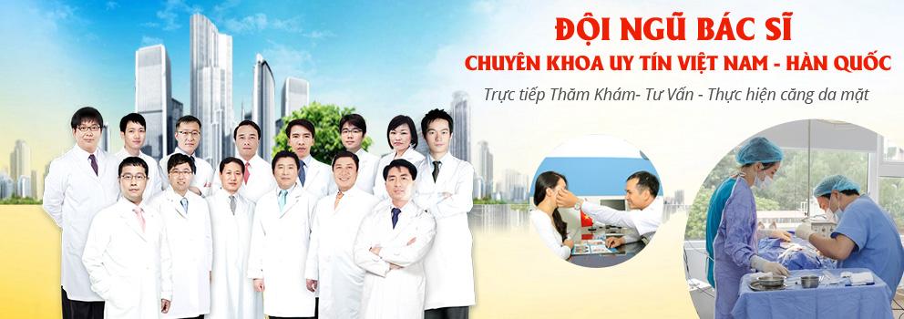 Đội ngũ bác sĩ căng da mặt tại thẩm mỹ viện Kangnam