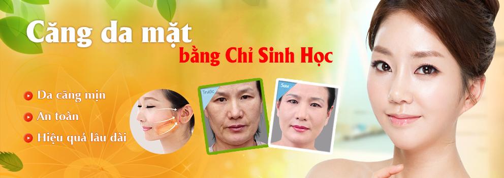 Căng da mặt bằng chỉ công nghệ Hàn Quốc