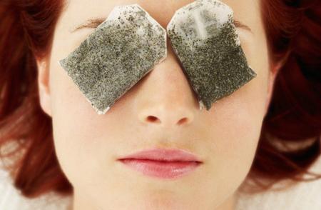 Kết quả hình ảnh cho túi trà trị nhăn mắt